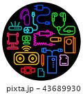 充電器 フォン 電話のイラスト 43689930