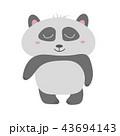ぱんだ パンダ かわいいのイラスト 43694143