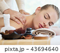 Woman having massage in the spa salon 43694640