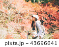女性 ハイキング 秋の写真 43696641