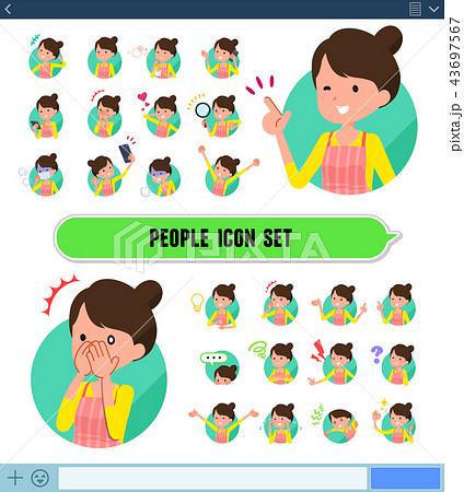 flat type Ballet Bun hair Apron mom_icon 43697567