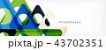 ジオメトリック 幾何学的 カラーのイラスト 43702351