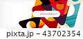 ジオメトリック 幾何学的 背景のイラスト 43702354