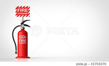消火器 台 右コピースペース 43703070