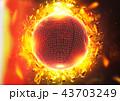 球体 球 炎のイラスト 43703249