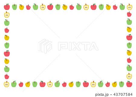 三色の林檎 飾り線 43707584