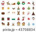 冬 クリスマス アイコンのイラスト 43708834
