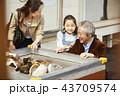 遊園地で遊ぶ家族 43709574