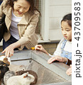 遊園地で遊ぶ家族 43709583