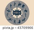 ゾディアック 占星術 星占いのイラスト 43709966