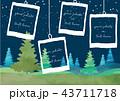 風景 森林 フォトフレームのイラスト 43711718