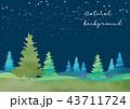 風景 森林 高原のイラスト 43711724