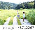 ハイキング 家族 子供の写真 43712267