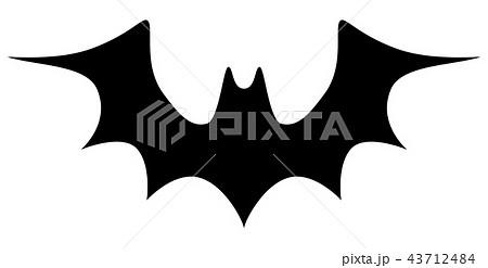 コウモリのシルエット ハロウィン素材のイラスト素材 43712484 Pixta
