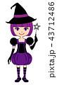 魔女 ハロウィン コスプレのイラスト 43712486