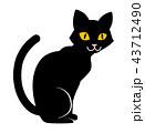 黒猫 猫 ハロウィンのイラスト 43712490
