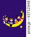 ハロウィン 仮装 月のイラスト 43712948