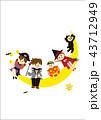 ハロウィン 仮装 月のイラスト 43712949