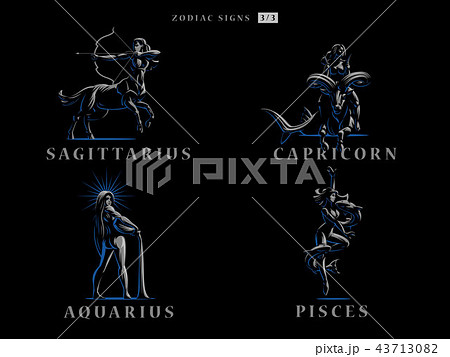 Zodiac signs. Vector illustration. 43713082