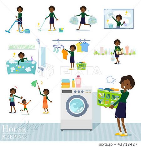 flat type business black women_housekeeping 43713427