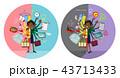女性 会社員 両立のイラスト 43713433