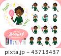 女性 黒人 ビューティーのイラスト 43713437