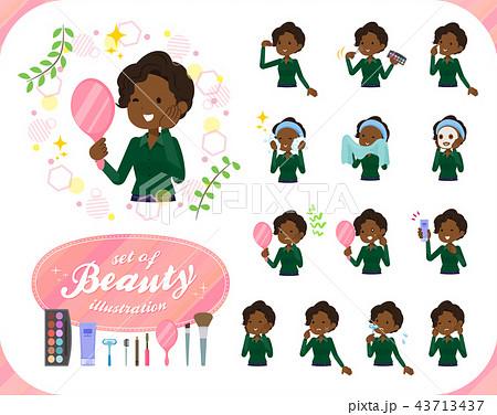 flat type business black women_beauty 43713437