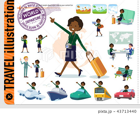 flat type business black women_travel 43713440