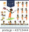 女性 黒人 外国人のイラスト 43713444