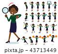flat type business black women_Action 43713449