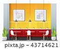 レストラン 飲食店 インテリアのイラスト 43714621