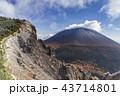 浅間山 冠雪 山の写真 43714801