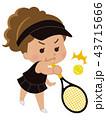 テニス選手 女性 43715666