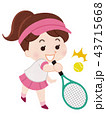 テニス選手 女性 43715668