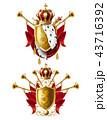 クラウン 冠 王冠のイラスト 43716392