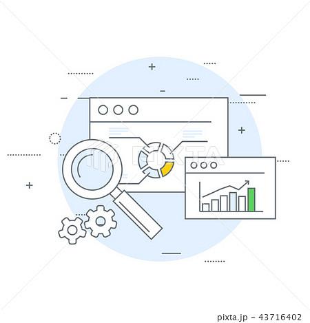 Online marketing and analytics icon 43716402
