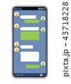 スマートフォン SNS画面バージョン 43718228