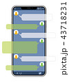 スマートフォン SNS画面バージョン 43718231