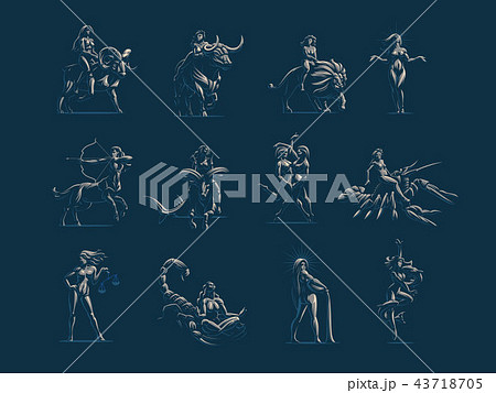 Zodiac signs. Vector illustration. 43718705
