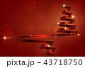 クリスマス クリスマスツリー リボンのイラスト 43718750