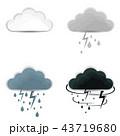 アイコン 雨 空のイラスト 43719680