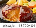 チーズインハンバーグ ハンバーグ ハンバーグステーキの写真 43720484