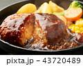 チーズインハンバーグ ハンバーグ ハンバーグステーキの写真 43720489