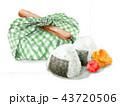 お弁当包み 弁当 昼食のイラスト 43720506