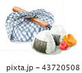 お弁当包み 弁当 昼食のイラスト 43720508
