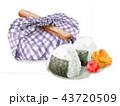 お弁当包み 弁当 昼食のイラスト 43720509