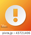 Abstract of orange exclamation mark symbol. 43721406