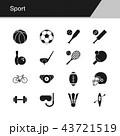 アイコン テニス スポーツのイラスト 43721519