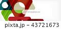 ジオメトリック 幾何学的 背景のイラスト 43721673