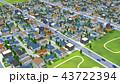 街 住宅街 俯瞰のイラスト 43722394